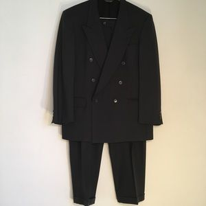Pierre Cardin Double Breasted Black Suit